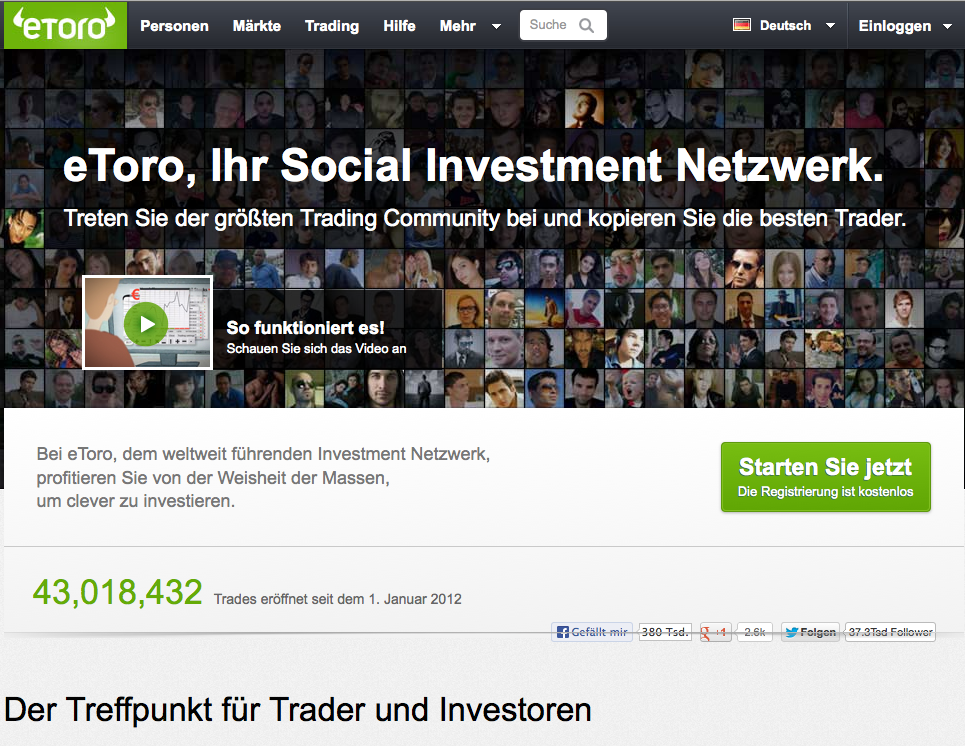 Screenshot eToro