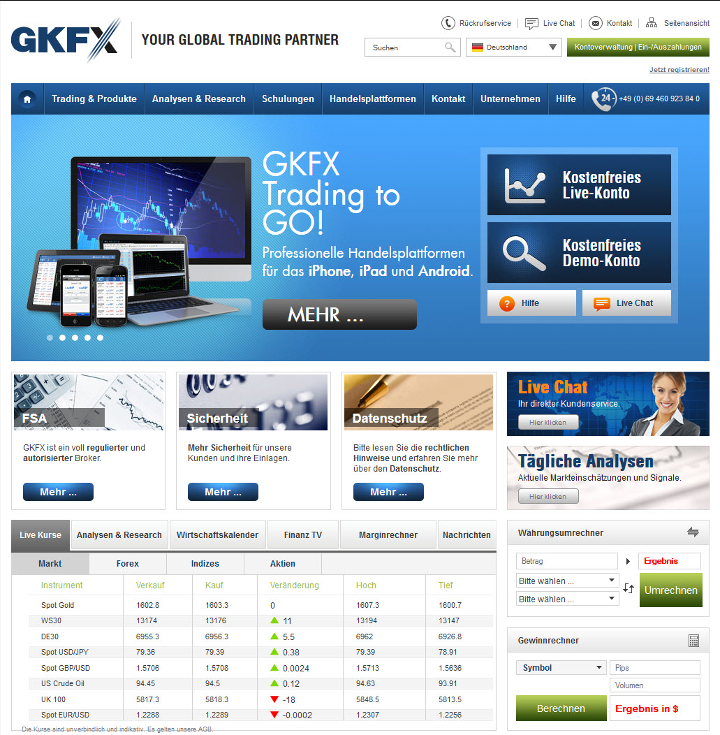 Screenshot GKFX